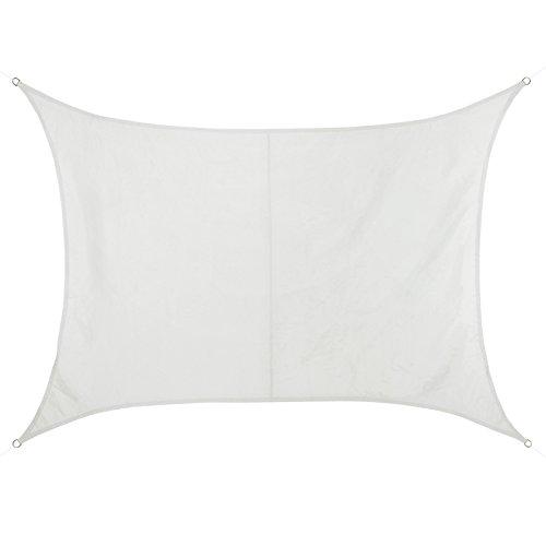 BB Sport Sonnensegel rechteckig 2m x 2.5m wetterbeständig wasserabweisend Sonnenschutz 100% PES Sichtschutz Windschutz Tarp, Kokos (ösen 1 4)