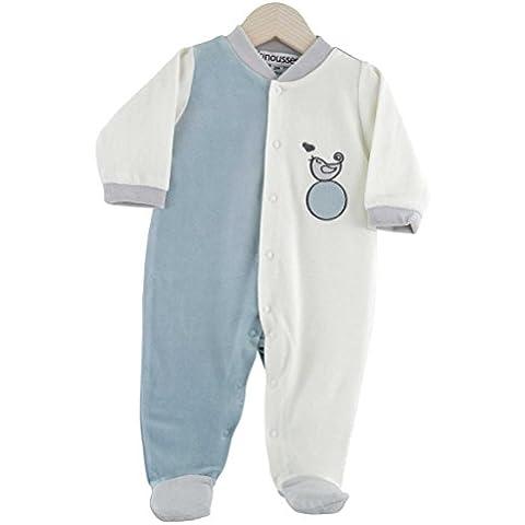 Kinousses pijama para bebé de terciopelo, diseño de búho