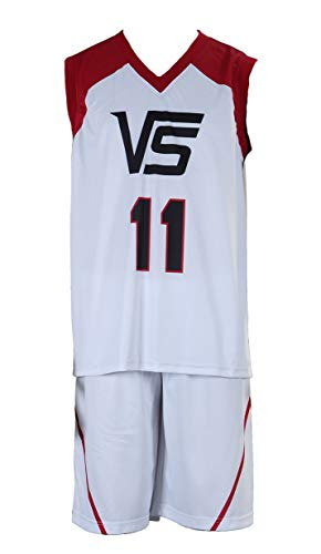 Chong Seng CHIUS Cosplay Costume Jersey Set for Last Game No. 11 Kuroko (Japanese School Boy Kostüme)