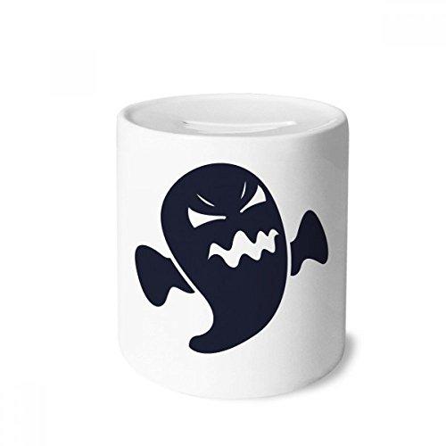 ter Halloween-Geister-Geld-Kasten Sparkassen Keramik Münzfach Kinder Erwachsene 3.5 Zoll in Height, 3.1 Zoll in Duruchmesser Mehrfarbig ()