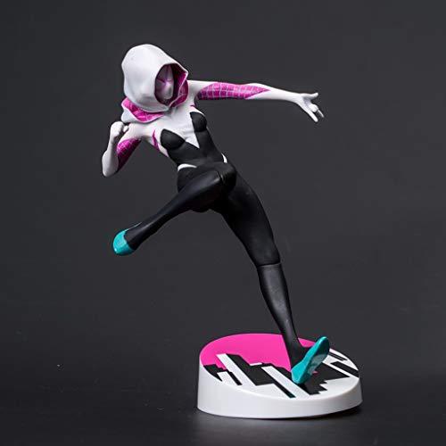 XIAOPING Superheld weibliche Spiderman Spielzeug Statue PVC Puppe Puppe Souvenir 22 cm Spielzeugstatue