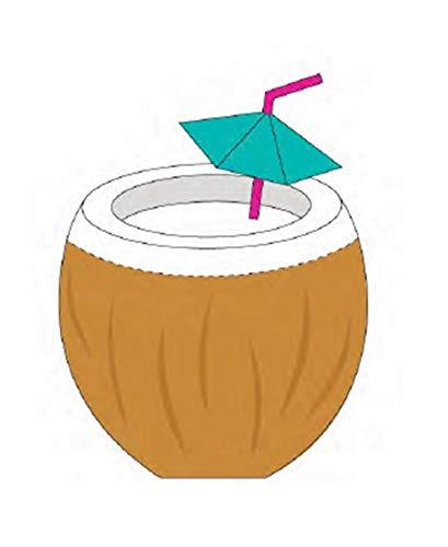 SunnyLIFE Verre de plage en forme de fruit avec une tasse de Sippy pour adulte, Twisty Straw Taille unique Noix de coco