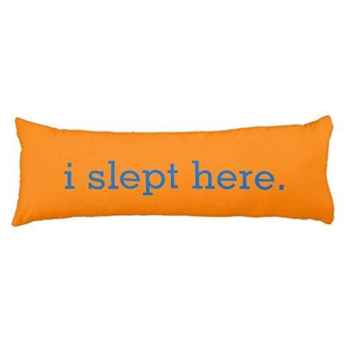 humoristique Orange vif I jusque là Corps Housses de coussin 20 x 54 décoratifs Oreiller de corps Coque pour lit