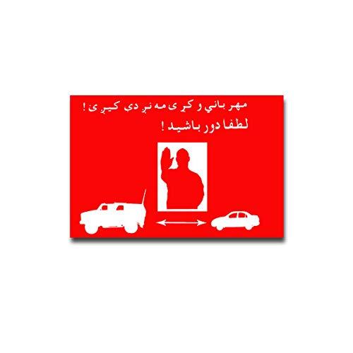 BW Abstandhalten ISAF Afghanistan Bundeswehr Aufkleber Sticker 15x10#A4356 -