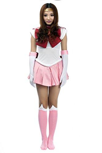 Mtxc Surf Lady die Wunder für Erwachsene Coat Sailor Moon Chibi Usa Cosplay, rosa S