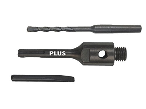 SDS-Plus Adapter/Verlängerung M16, 115mm, inkl. Zentrierbohrer und Auswurfkeil für Diamant Hohl-bohrkrone. Aufnahme-Schaft für Dosen-senker, Kern-bohrer, Steckdosen-bohrer.