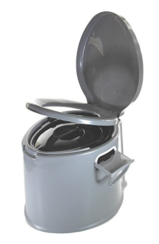 Eimertoilette,Camping-Toilette,Nottoilette, SESUA chemietoilette toiletteneimer Sanitär Farbe GRAU