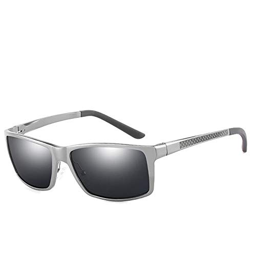 AMTSKR Herren Sport polarisierte Sonnenbrille, Carbon Fiber Galsses Legs Zubehör Fashion Shades (Farbe : Grau)