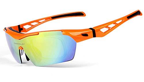 TR90 Outdoor-Sonnenbrillen Radfahren Laufen Sport Augenschutz Radfahren Ausrüstung Multi Sport Sonnenbrillen Swap 5 UV400-Polarisierte unregelmäßige Linsen,A
