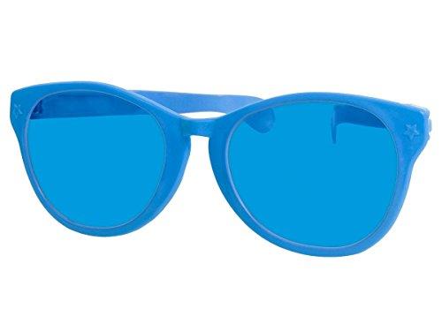 bo Partybrille Riesenbrille Spaßbrille Karneval Fasching Party Clown Brille F-049, wählen:blau (Jumbo Clown Brille)
