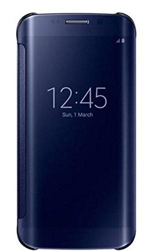 Original Delkart Hi Fi Shiny Mirror Flip Cover For Samsung Galaxy J7 (2016)(Blue)