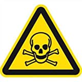 Aufkleber Warnschild Warnung vor giftigen Stoffen 20cm sl Folie