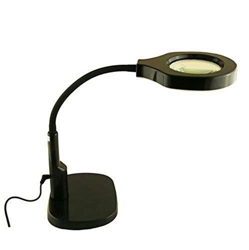 AFDK Desktop-LED-Lupenleuchte Lupe mit flexiblem Schwanenhals zum