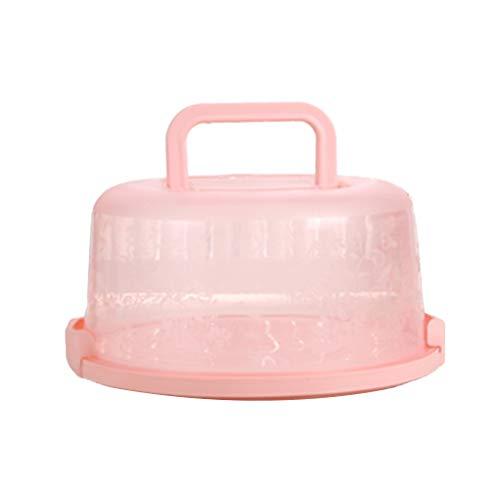 Chowcencen Kunststoff-Runde Kuchen Box Tragegriff Pastry-Speicher-Halter Dessert Container Abdeckungs-Fall-Kuchen-Zubehör Dessert-container