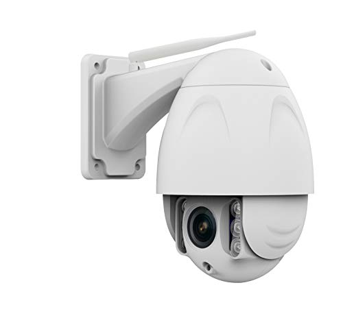 Safe2Home® bewegbare PTZ Funk IP Überwachungskamera 1080P PTZ Cam Full HD Cam mit Nachtsicht - 4X Zoom - Kamera aussen Outdoor und innen