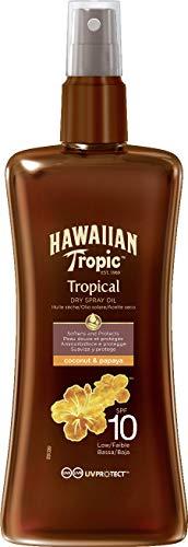Hawaiian Tropic Protective Dry Spray Oil Sonnenöl LSF 10, 200 ml, 1 St