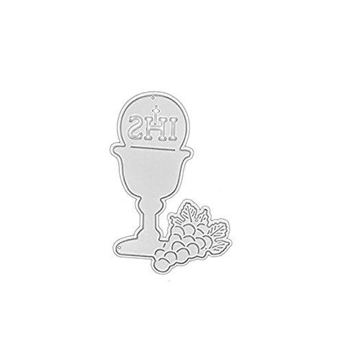 Andouy Scrapbooking Stanzschablonen Schablonen Stanzbögen Stanzformen Metall Sterben,Zubehör für Sizzix Big Shot/Cricut Cuttlebug/und Andere Stanzmaschine(E,Becher 8,2x5,5 cm)