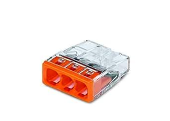 wago 2273 203 compact dosenklemme 3 x 0 5 2 5 qmm 100 st ck orange. Black Bedroom Furniture Sets. Home Design Ideas
