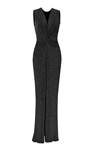 NOBLEMOON Vestido Twist Knot para Mujer, Vestido Largo de Lentejuelas Sexy Deep V, Vintage 50s 60s Elegante Body con Evening Cocktail Party Hip Back Zipper Dress