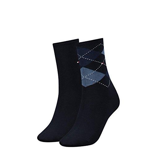Tommy Hilfiger Damen TH Women Find out Sock 2P 2er Pack, Blau (Tommy Blue 054), 35/38