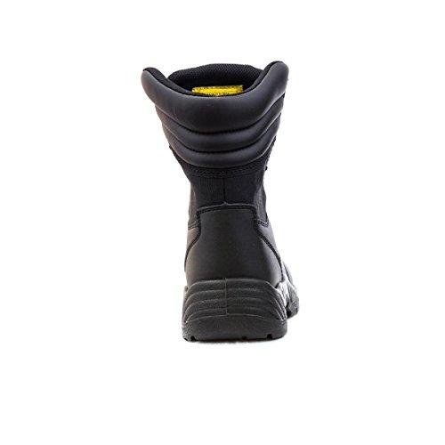 Earth Works-Calzatura di sicurezza da uomo, colore: nero, delle opere in terra con lacci per stivali di sicurezza Nero (nero)