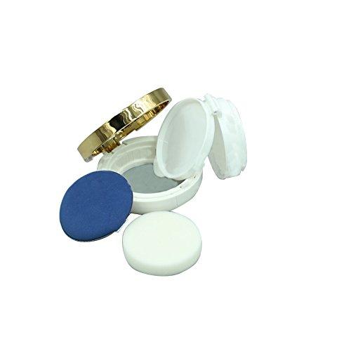 15 ml Augencreme leer nachfüllbar Zirkular Puderquaste Box Tragbar Make-up Puder Container mit Puderquaste für Air Kissen BB Cream Foundation -