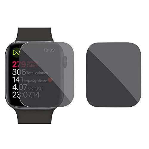MMLC Displayschutzfolie für Apple Watch Series 4 44mm | Privatsphäre Anti-Spy Film Gehärtetem | Anti-Fingerprint Anti-Peep Ausgeglichenes Schutz Schirm Vollschutzfolie (Black) -