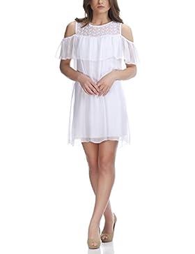 Laura Moretti - Blusa de seda larga con mangas sin hombros y detalles bordados