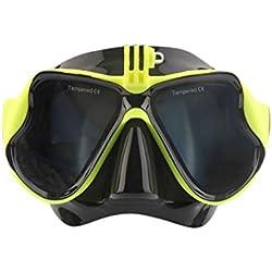 Kongqiabona Professional Appareil Photo sous-Marin Plongée Masque de plongée Scuba Snorkel Lunettes de Natation Convenant à la caméra de Sport GoPro Standard