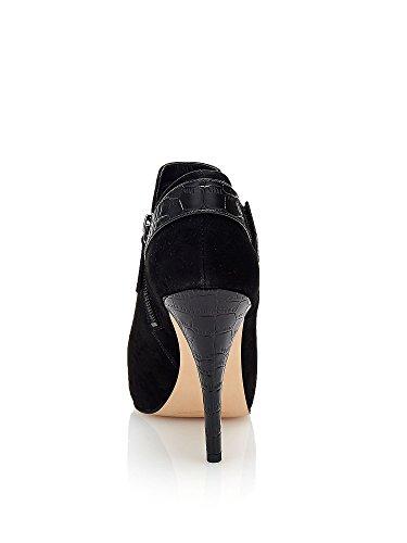 Guess Trimmentiefel Damen Owim Reißverschluss Heel Cm 11 Pl Cm 1 Leder Black Black