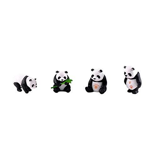 shyyymaoyi niedliche Miniatur-Panda-Figuren, Landschaft, DIY Garten Puppenhaus Ornament Geschenk Schreibtisch Dekoration