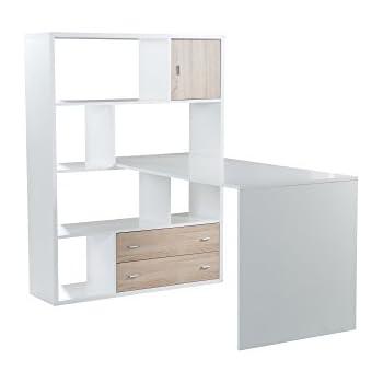 Phönix 806259WE Einhänge Schreibtisch, Holz, Weiß, 70 X 120 X 66 Cm