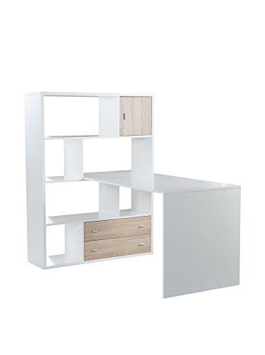 Phönix 806259WE Schreibtisch, Holz, weiß, 70 x 120 x 66 cm