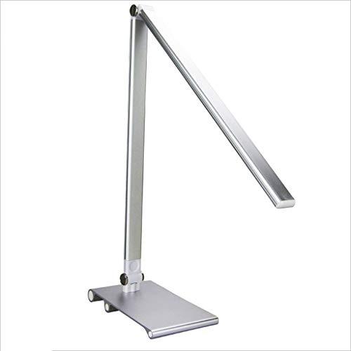 LED-Schreibtischlampe, Augenschutz-Tischlampe, dimmbare Büroleuchte mit USB-Ladeanschluss, 3 Helligkeitsstufen für den Beleuchtungsmodus, Touch-Steuerung, Silber, Schwarz, Gold ( Color : Silver ) 3801 Usb