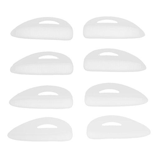 Homyl 4 Paar Silikon Pads für Ein Perfektes Wimpernlifting, Wimpernwelle, Wimpern Curler, Silikon Curler, Silikon Röllchen