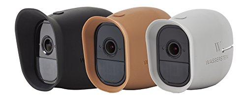 Silikon Skins Für Arlo Pro, Arlo Pro 2 Smart Security - 100% wire-free Kameras von Wasserstein (Arlo Pro - Sunroof, Schwarz / Braun / Grau)