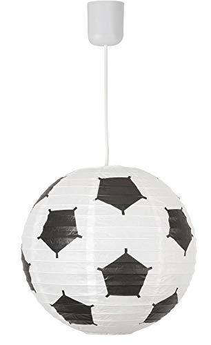 Kinderzimmerlampe Junge, Papierschirm, im Fussball-Design, leuchtenladen, Kinderlampe