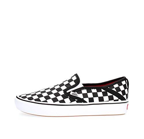 Vans VN0A3WME5GU1 UA COMFYCUSH Slip-ON Schuhe OHNE Laces Herren Black White 40 - Slip-on Herren Schuhe White Vans