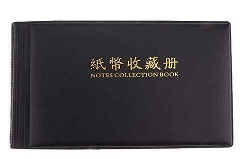 Mein Ji Album Geldscheinmünze aus der Kollektion Papier Tasche 30 Seiten Schwarz