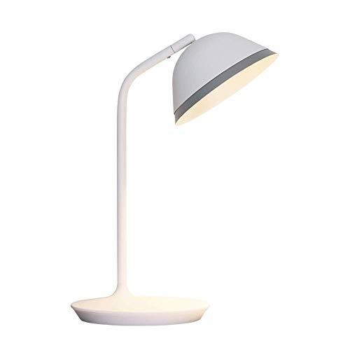 LEGELY Lampe de Table LED/Lampe de Lecture de Protection des Yeux/Travail des étudiants, Lampe de Chevet de Chambre en métal Blanc/Direction de l'éclairage réglable