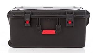 étanche Plastique rigide tirer Valise avec roulettes et poignée télescopique