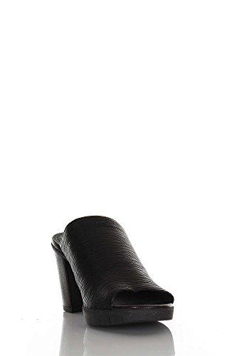 The Flexx Girls C608 scarpe donna sandali ciabatte sabot neri pelle con tacco confort Nero