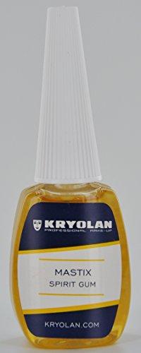MASTIX Hautkleber / Klebemittel für Haare Bärte Perücken und Straß von Kryolan 12 ML (Haare Kurze Halloween Bart)