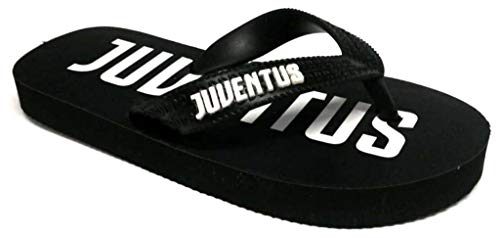 Juventus FC Ufficiale Infradito, Ciabatte Bambino MOD. S19030 Nero (31 EU)