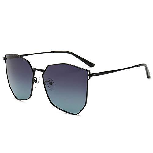 Frauen es Sonnenbrillen, 2019 Neue Polygon Progressive Farbe polarisierte Sonnenbrille Frauen Farbe Film Large Frame Anti-UV-Sonnenbrille Frauen,d