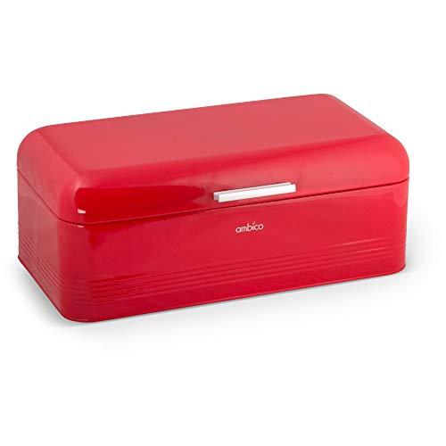 Brotbox ALVA L aus Metall Brotkasten, 42x24x16,5 cm, Farbe: rot