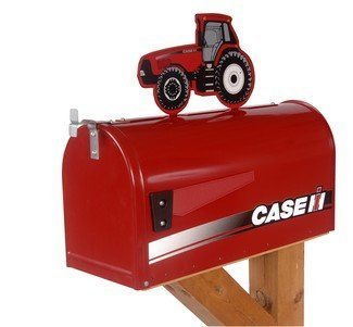 Case IH Rural Style Mailbox with Topper Tractor Red by Distel Grain Systems,Inc - Ih Grain