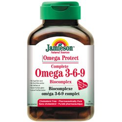 Omega 3-6-9 - 80 perle - Jamieson Integratore di Olio di lino, borragine, pesce
