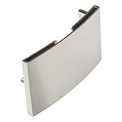 Herren Silber Gürtelschnalle (INVIDA Gürtelschließe SILVER mit Kreditkartenfach mit RFID-Schutz für Wechselgürtel)
