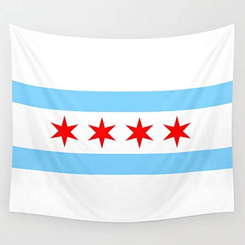prz0vprz0v Chicago Flag Wall Tapestry Wall Hanging Flag Tapestry Chicago Decor Home Decor, Dorm Wall Hanging 40